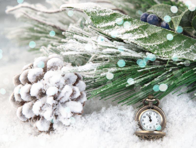szampański odliczanie gadżetów północ przyjęcie Retro stylu zegar liczy ostatni momentów b zdjęcia royalty free