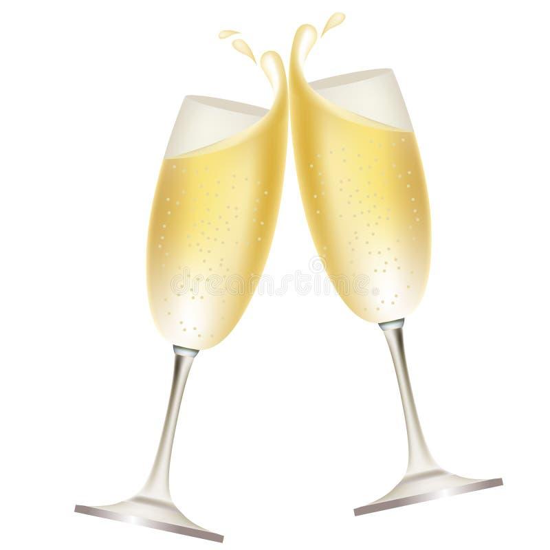 szampański pluśnięcie royalty ilustracja