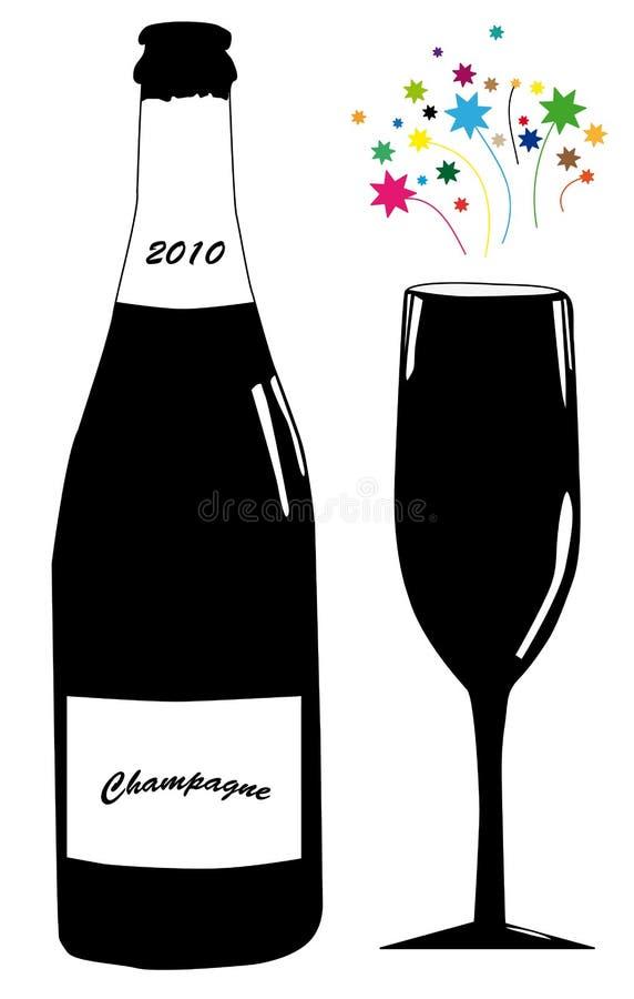 szampański szkło ilustracji