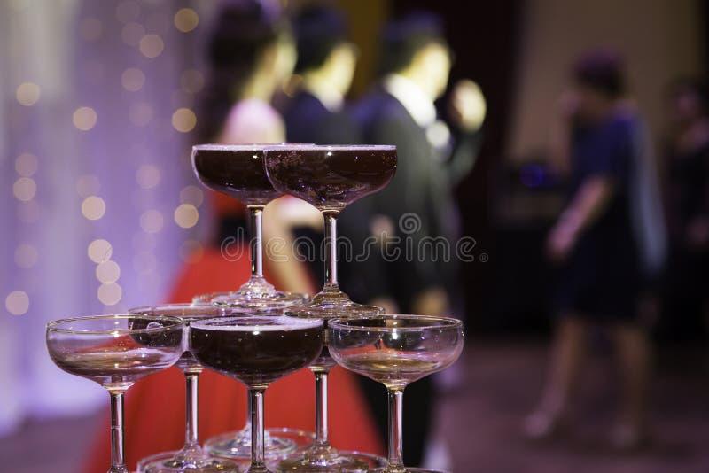 Szampański Wineglass fotografia stock