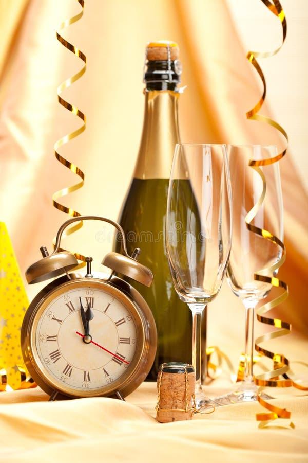 szampańskiej dekoraci szczęśliwy nowy partyjny rok obrazy royalty free