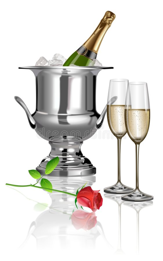szampan royalty ilustracja