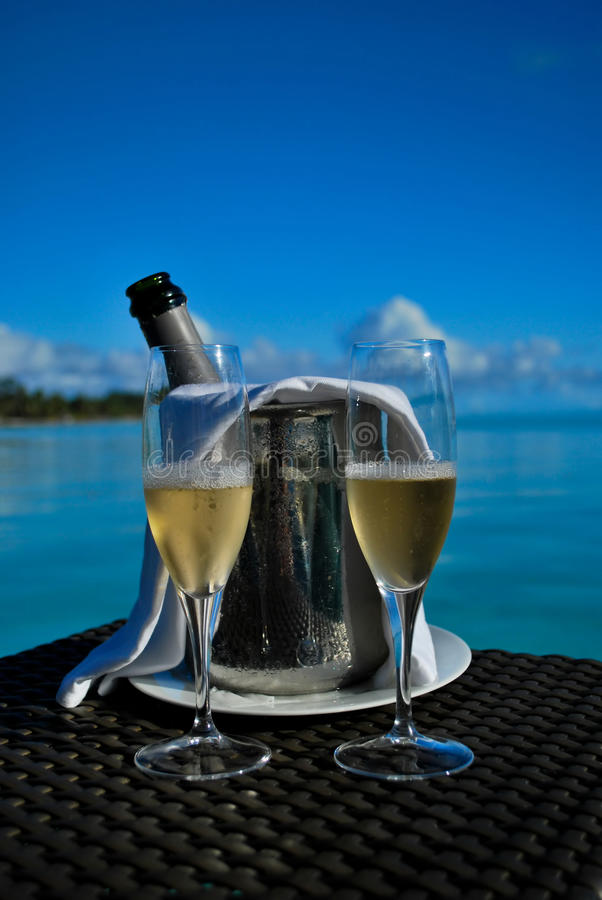 szampan chłodzący zdjęcie royalty free