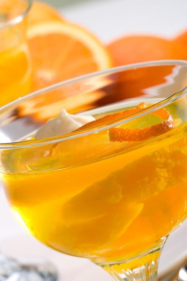 szampan galaretowa pomarańcze zdjęcie royalty free