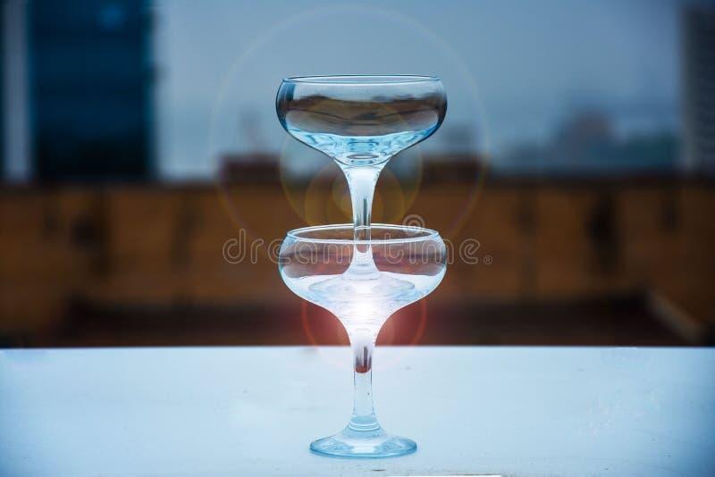 szampan obramiający szkła obramiać strzelali zdjęcie royalty free
