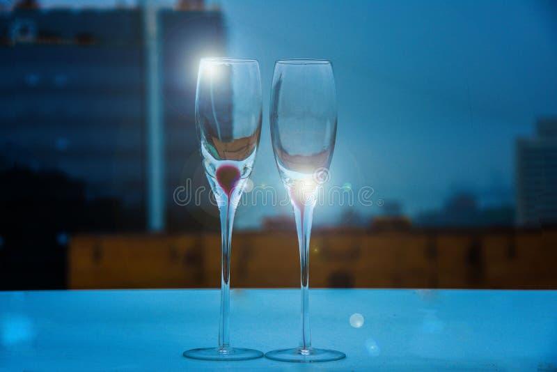 szampan obramiający szkła obramiać strzelali obrazy royalty free