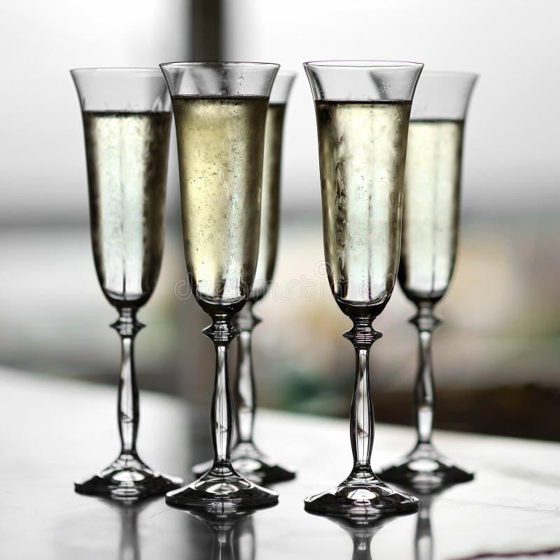 szampan pięć szkieł obraz royalty free