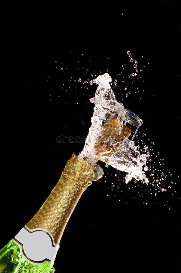 szampan wybuchu, fotografia stock