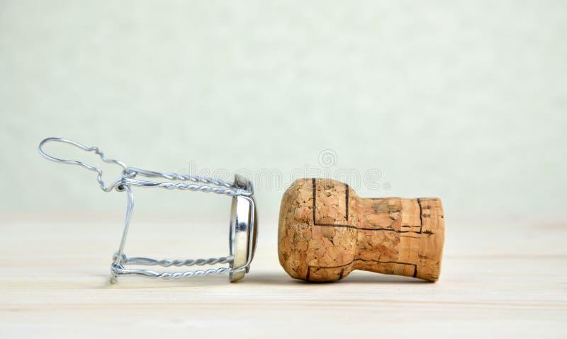 Szampana drut i korek zdjęcie royalty free