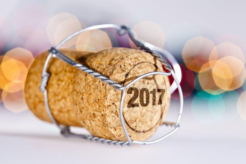 Szampana korek 2017 zdjęcia stock