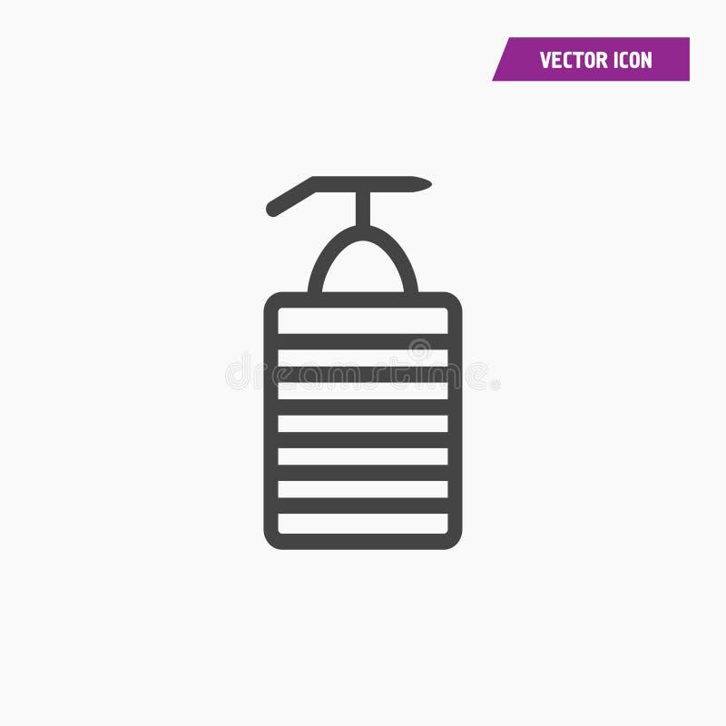Szampon, mydlana zbiornik ikona ilustracji