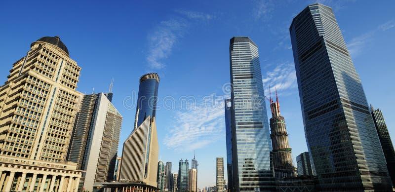 Szanghaj światu centrum finansowe obraz royalty free