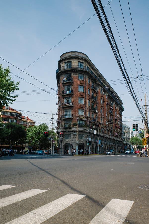 SZANGHAJ, CHINY: Ja S S Normandie mieszkanie fotografia royalty free