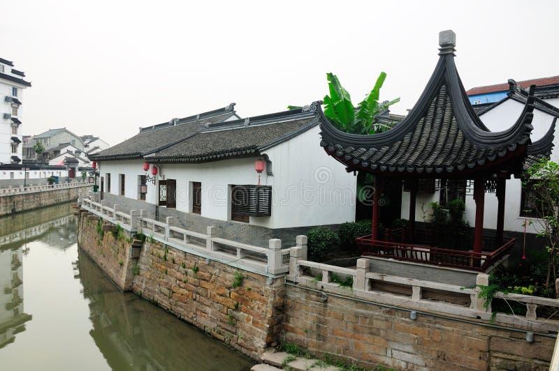 Szanghaj Chiny wody kanał obraz stock
