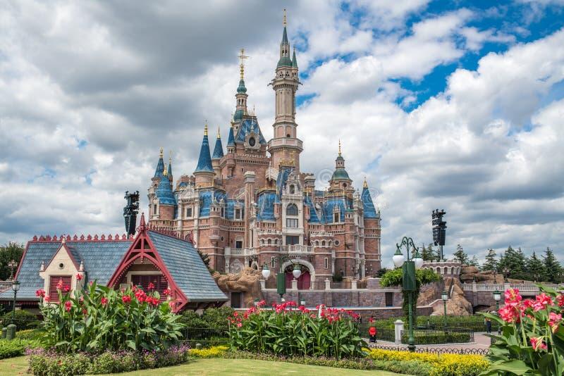 Szanghaj Disneyland w Chiny obrazy royalty free