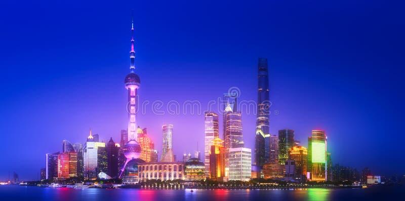 Szanghaj linii horyzontu pejzaż miejski obraz stock