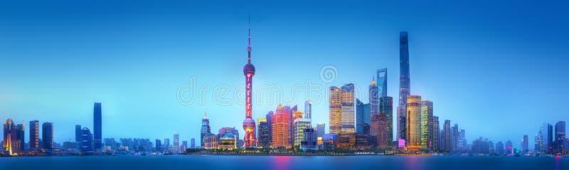 Szanghaj linii horyzontu pejzaż miejski zdjęcia stock