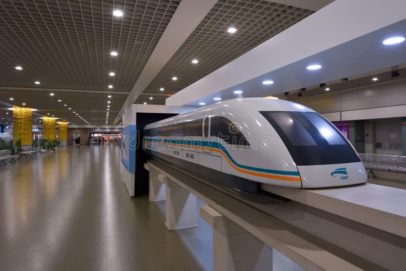 Szanghaj Maglev pociąg - Szanghaj Transrapid fotografia royalty free