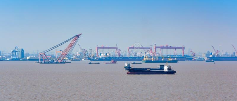 Szanghaj port obrazy royalty free