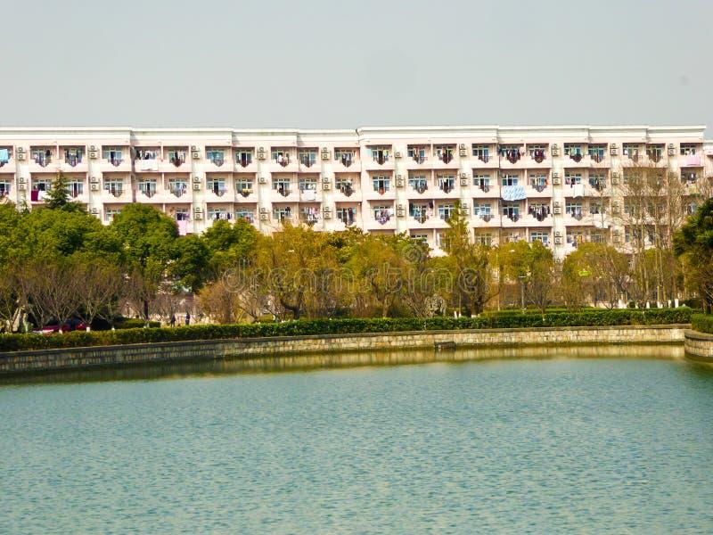 Szanghaj studenta uniwersytetu dormitorium obraz royalty free