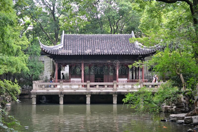 Szanghaj Yuyuan ogród, dziejowy tradicional chińczyka ogród w Szanghaj, Chiny obraz royalty free