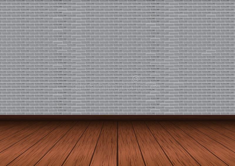 Szara ściana z cegieł wektoru ilustracja ilustracja wektor