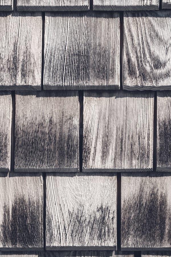 Szara drewniana płytki tekstura fotografia royalty free