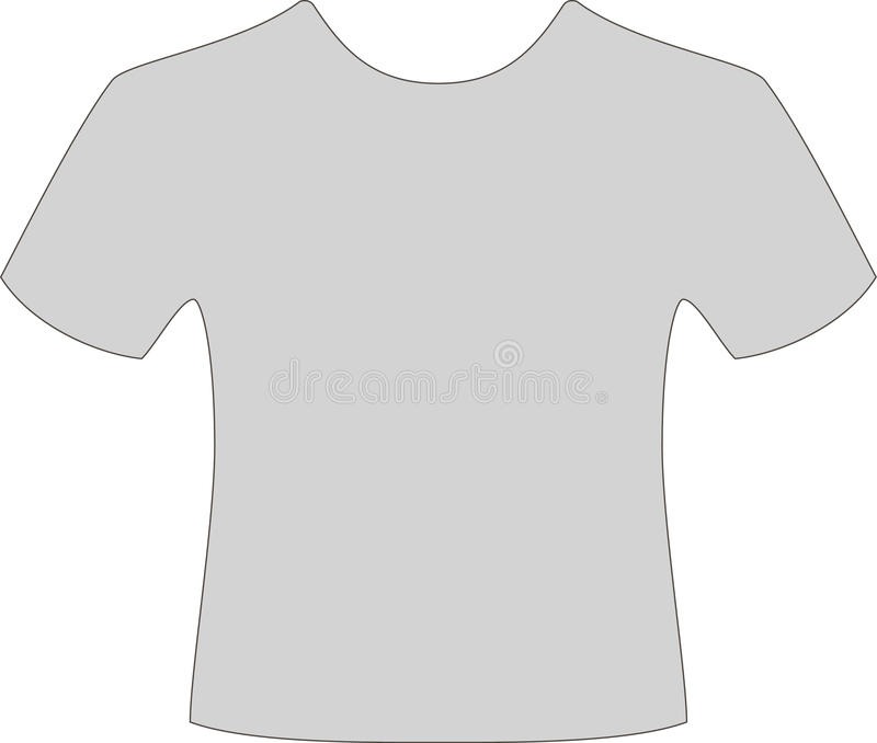 Szara koszulka ilustracji