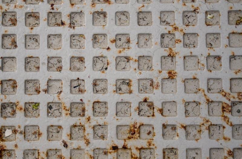 Szara Manhole pokrywa Zamknięta W górę zdjęcia stock