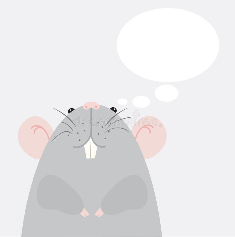 szara mysz ilustracja wektor