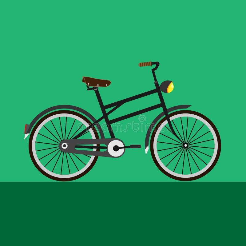 Szara rocznika bicyklu ilustracja obraz royalty free