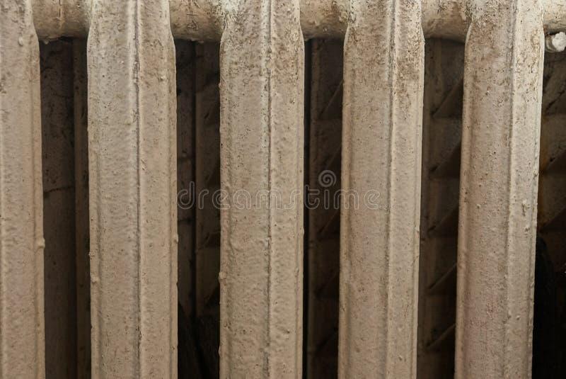 Szara tekstura od starych obsady żelaza baterii sekcji zdjęcie royalty free
