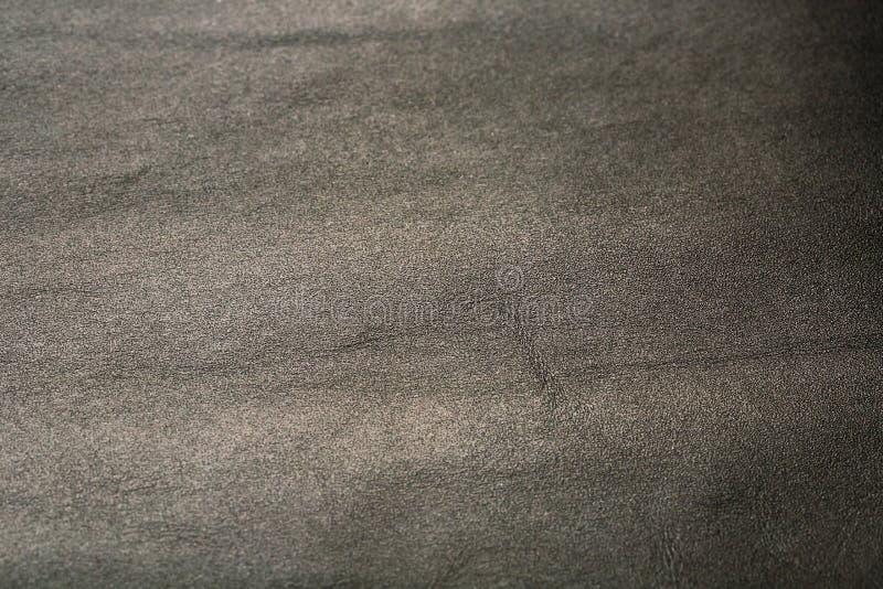 Szara textured nappa skóra używał teksturę dla tła Dla textural tła z samochodowymi siedzeniami fotografia stock