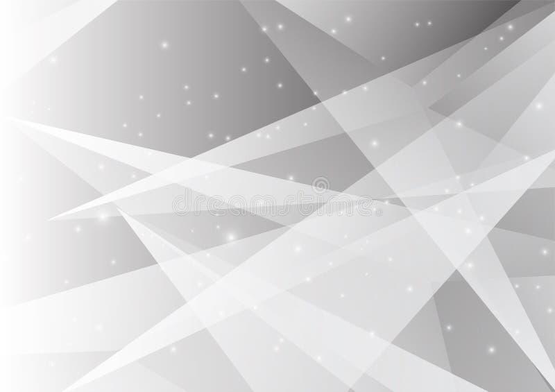 Szarego i białego wieloboka abstrakcjonistycznego tła nowożytny projekt, Wektorowa ilustracja ilustracja wektor