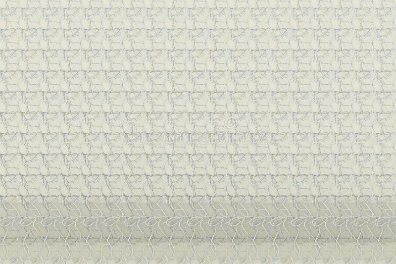 Szarego lub czarny i biały b&w CGI Abstrakcjonistyczny skład, sznurka matowy geometryczny tło Tapeta dla graficznego projekta 3 d ilustracji