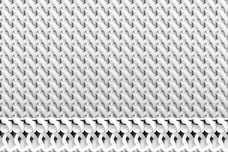 Szarego lub czarny i biały b&w CGI Abstrakcjonistyczny skład, sznurka matowy geometryczny tło Tapeta dla graficznego projekta 3 d royalty ilustracja