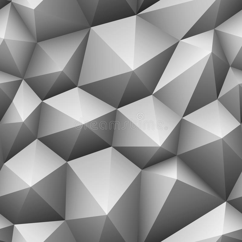 Szarego trójboka bezszwowy poli- tło royalty ilustracja