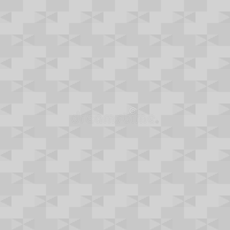 Szarość deseniują z prawymi trójbokami i prostokątami Bezszwowy vecto royalty ilustracja