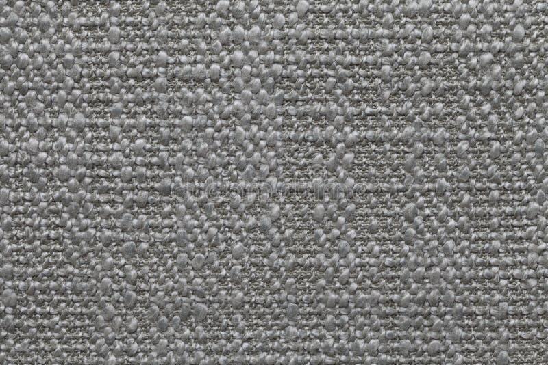 Szarość dziali woolen tło z wzorem miękka część, wełnisty płótno Tekstura tekstylny zbliżenie obrazy stock