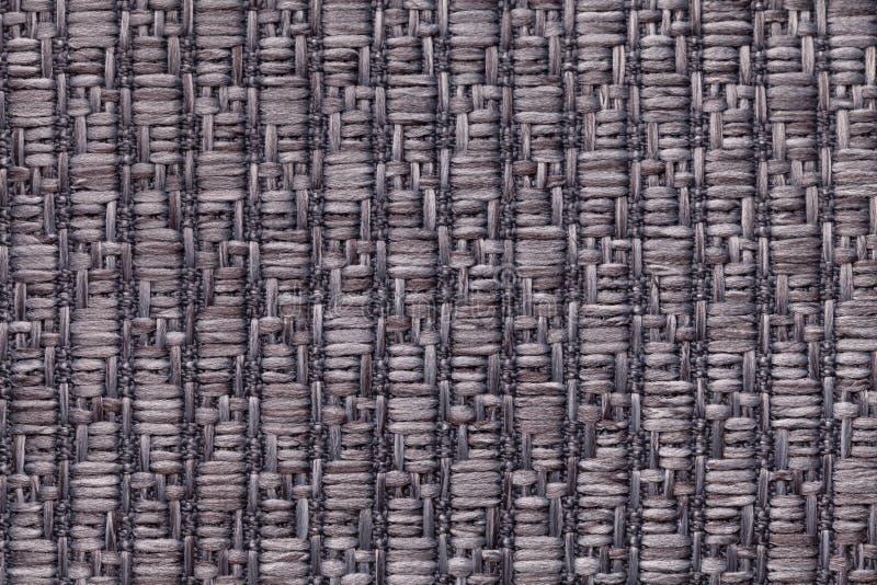 Szarość dziali woolen tło z wzorem miękka część, wełnisty płótno Tekstura tekstylny zbliżenie obrazy royalty free