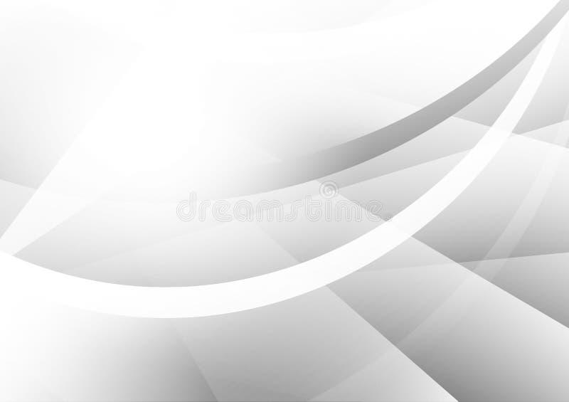 Szarość i srebra geometryczny abstrakcjonistyczny wektorowy tło z kopii przestrzenią, Nowożytny projekt ilustracja wektor