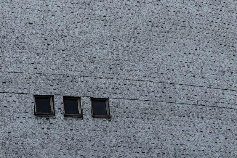 Szarość izolują z cementową teksturą i trzy czarnego kwadrata okno obrazy royalty free