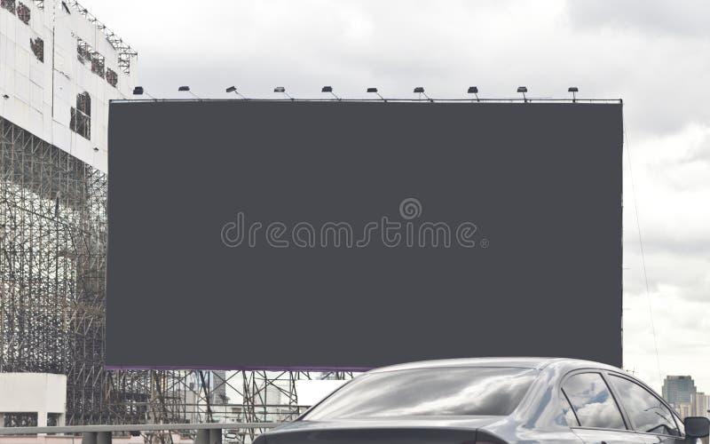 Szarość opróżniają billboard obrazy royalty free