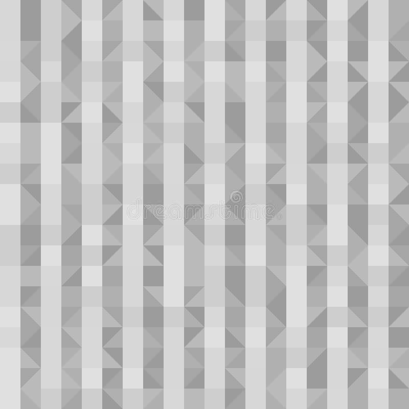 Szarość paskowali wzór z prawymi trójbokami, kwadraty Bezszwowy vec ilustracji
