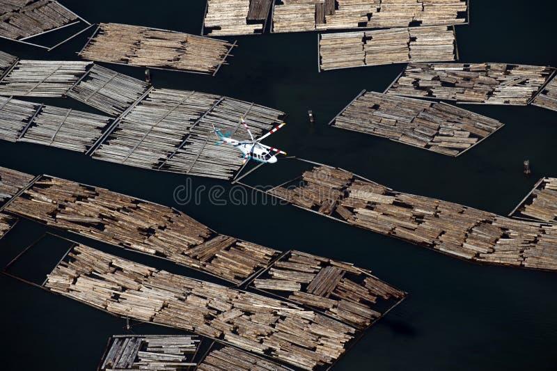 szarość punktu tratw morze Vancouver zdjęcia stock