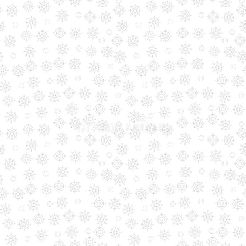 Szarość symboli/lów lekcy cyrklowi symbole na białego tła wektoru bezszwowym wzorze royalty ilustracja