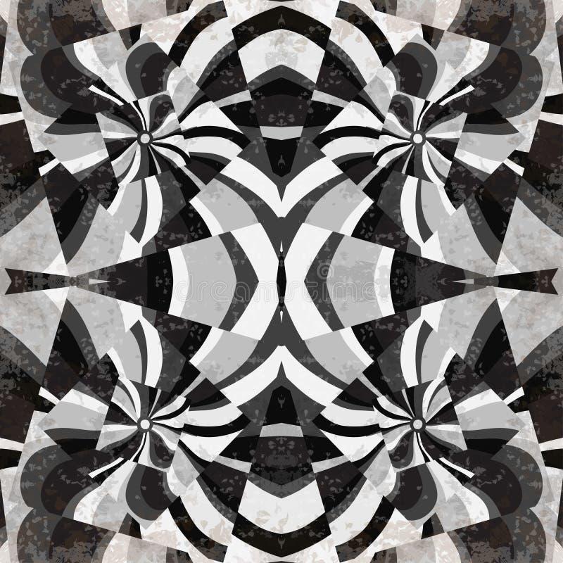 Szarość wykłada fala i obciosuje abstrakcjonistyczną geometryczną tło wektoru ilustrację ilustracja wektor