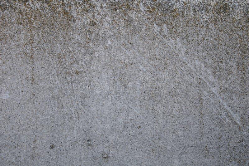 Szarości tekstury betonowy tło pęknięcia narysy szkoda fotografia stock