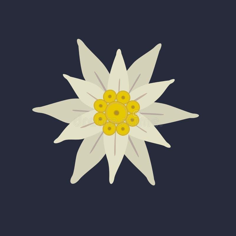 Szarotka kwiatu ikona ilustracji