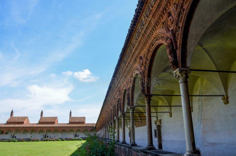Szartrezy Pavia, przyklasztorne zdjęcie royalty free